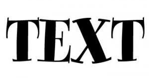 text pismenka